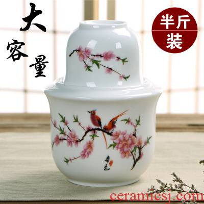 Two and a half jins temperature wine pot warm wine wine pot hot very hot pottery and porcelain wine liquor drinking rice wine glass cup suit