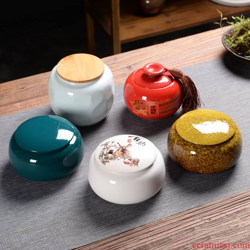 Caddy fixings ceramic seal household storage jar puer tea tea box size gift boxes custom POTS