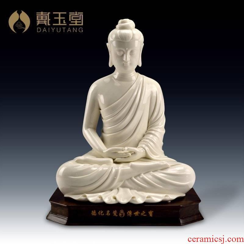 """Yutang dai dehua white porcelain 13 """"sakyamuni tathagata Buddha had the Buddha to occupy the place"""