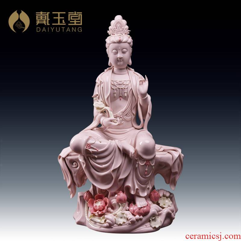 Yutang dai household dehua porcelain ceramic Buddha avalokiteshvara home furnishing articles wulian free goddess of mercy