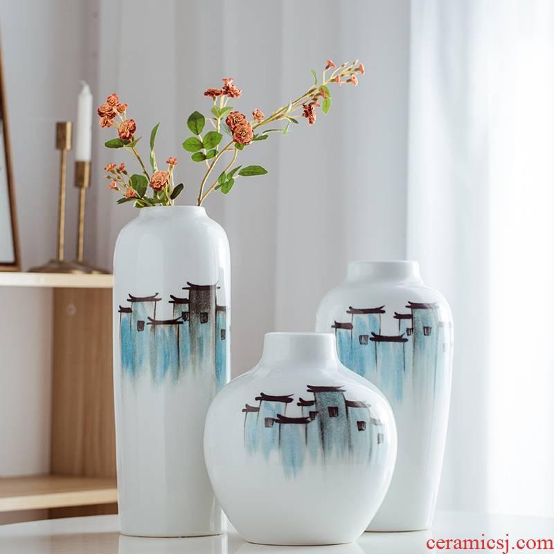 Mesa of ceramic vase of TV ark, wine vase furnishing articles sitting room porch home decoration Chinese jingdezhen arranging flowers
