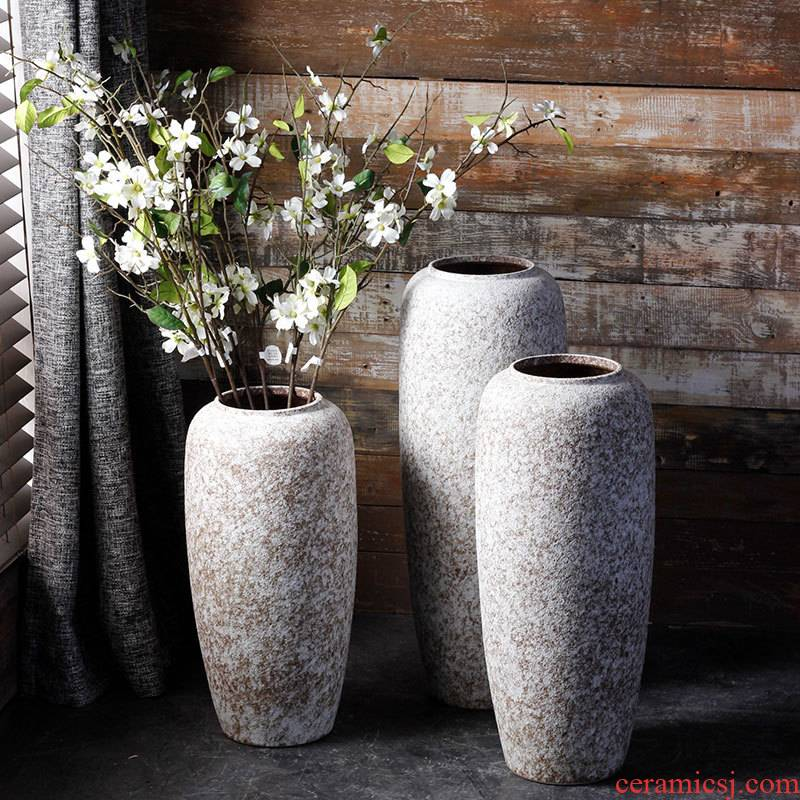 Jingdezhen ceramic vase landing simulation flower arranging flowers is placed to restore ancient ways the dried flower pot sitting room branch floral suit
