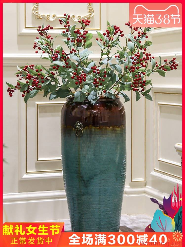 New Chinese style ceramic floor big vase up dried flower arranging flowers I and contracted Europe type villa hotel furnishing articles sitting room