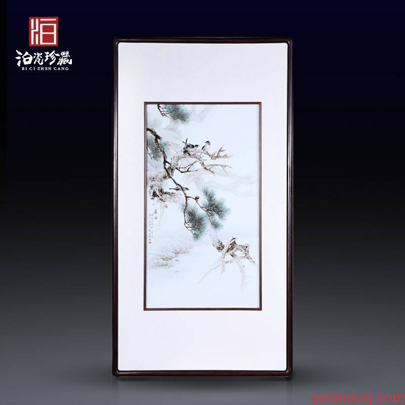 Jingdezhen ceramics hand - made pastel painting of flowers and Chinese style decorates metope hangs a picture alba home sitting room adornment is placed