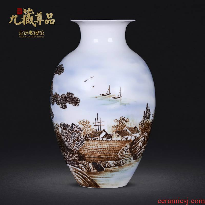 Jingdezhen porcelain masters of new Chinese style hand - made ceramic vases, furnishing articles flower arrangement sitting room decoration home decoration