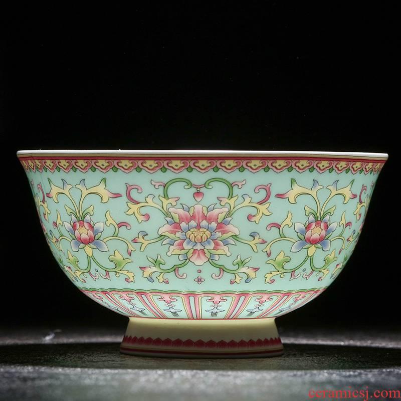 Jingdezhen ceramic tableware archaize 4.5 inch rice bowls noodles bowl soup bowl microwave hot longevity bowl. A gift