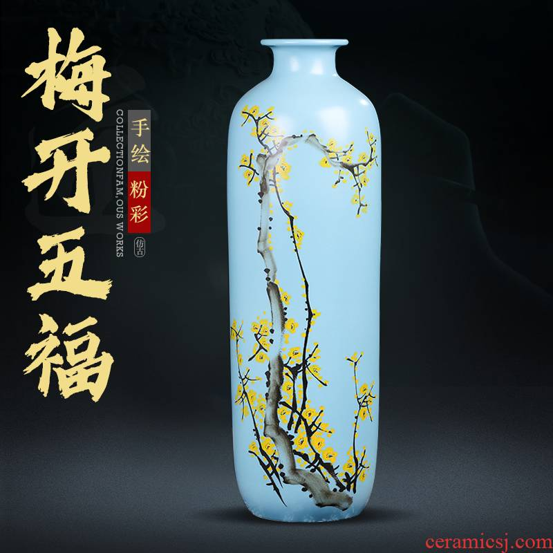 I and contracted the new Chinese style of large vases, jingdezhen ceramic hand - made dried flowers flower arrangement of TV ark, high furnishing articles