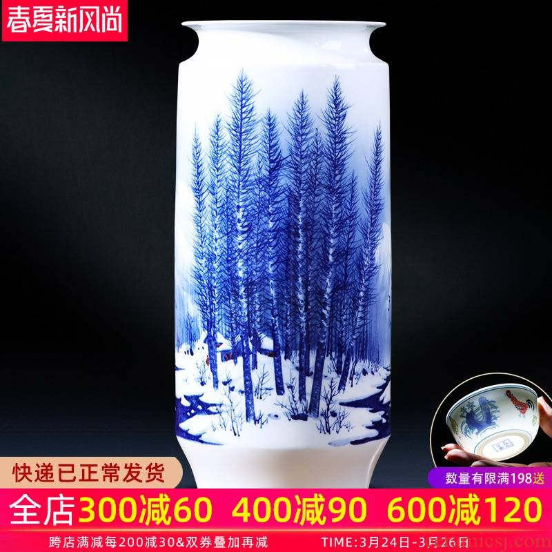 Jingdezhen ceramics celebrity hand - made porcelain bottles of the sitting room of Chinese style household decorative flower arranging TV ark, act the role ofing is tasted furnishing articles