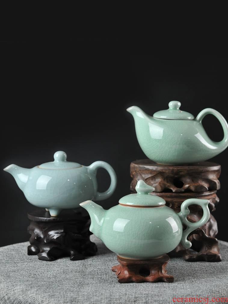 Undressed ore authentic antique teapot ceramic tea set your up kung fu single pot teapot retro CiHu big home side