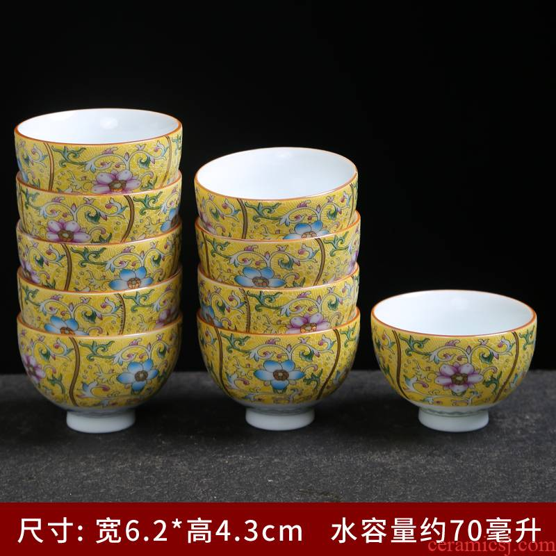 Jingdezhen silver colored enamel coppering. As ceramic cups sample tea cup kung fu tea cups of tea cup single CPU master cup white porcelain
