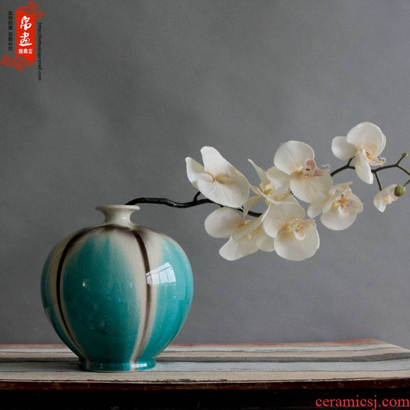 Jingdezhen ceramic up ceramic decoration home sitting room TV ark, flower flower flower ornaments furnishing articles
