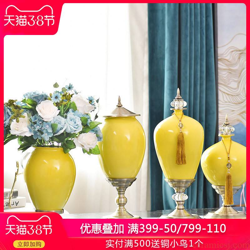 Creative fashion ceramic vase furnishing articles home sitting room simulation flower arranging flowers, artificial flowers, suit porch home decorations