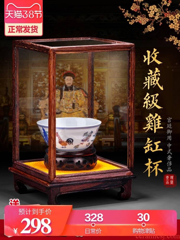 Jingdezhen archaize Ming chenghua chicken color bucket cylinder cup master cup kung fu tea tea set ceramic sample tea cup bowl