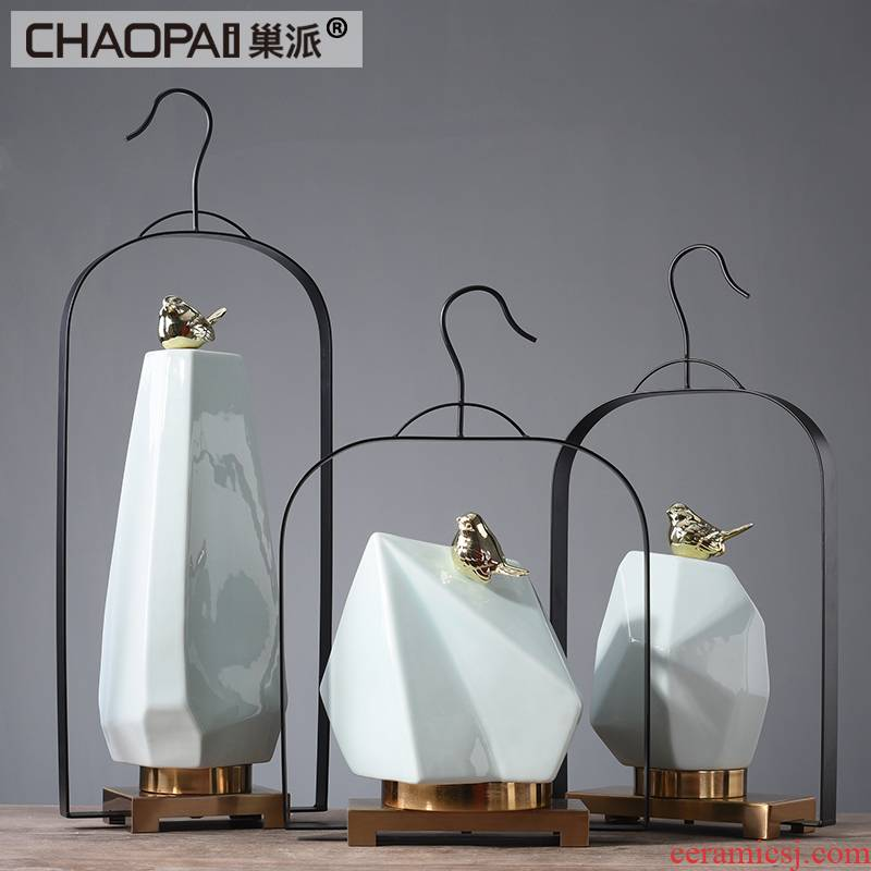 Chinese style porch ceramic zen soft outfit furnishing articles hotel club stores postmodern, wrought iron decoration art act the role ofing is tasted