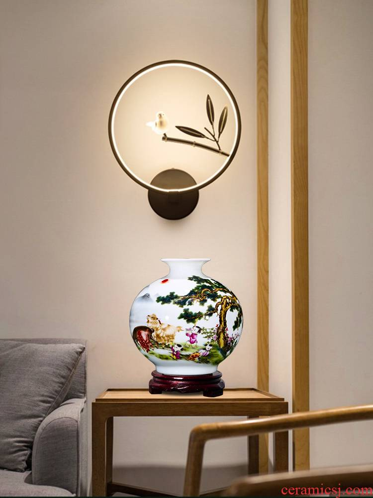Jingdezhen ceramics floret bottle furnishing articles flower arranging pomegranate bottle wine TV ark, sitting room adornment of Chinese style household