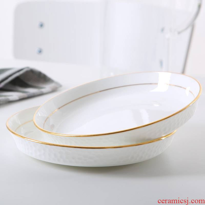 See the ipads porcelain of jingdezhen ceramic creative water cube western - style food home up phnom penh dish dish home meal soup plate plate plate