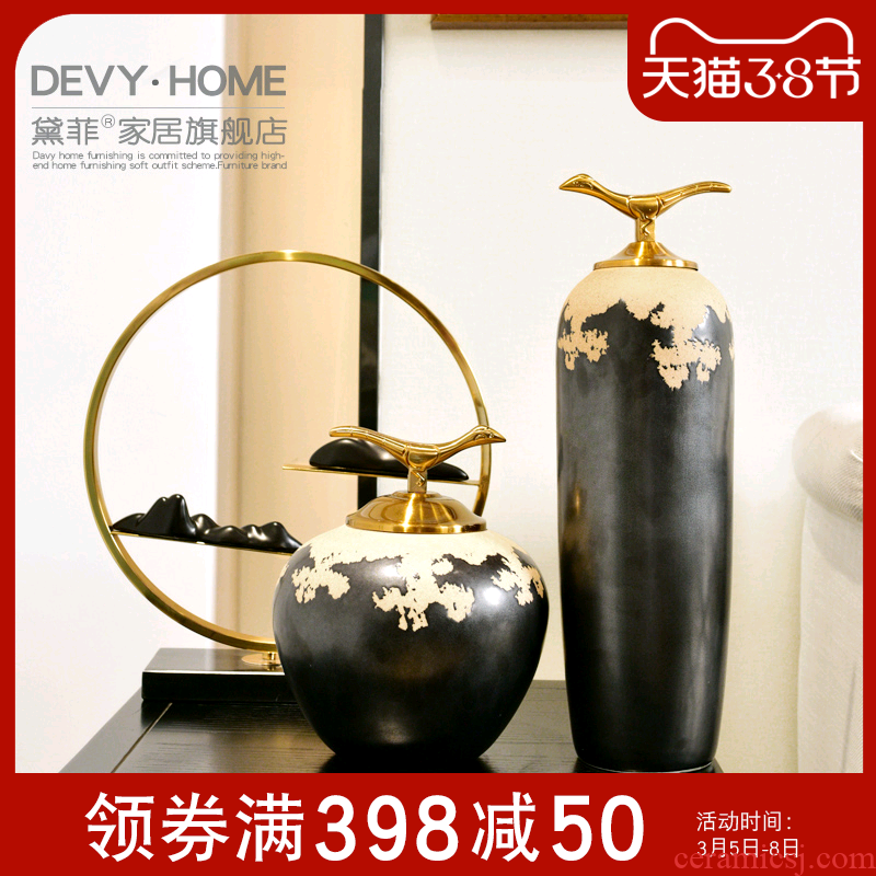 New Chinese style ceramic zen home decoration furnishing articles sample room TV cabinet sitting room porch receive a jar of decoration