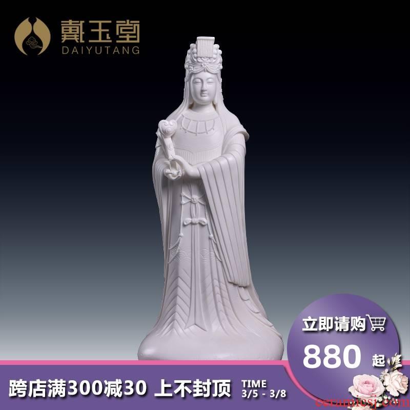 Yutang dai ceramic mazu statute furnishing articles maejo celestial days empress the virgin niang mother worship god in the sky