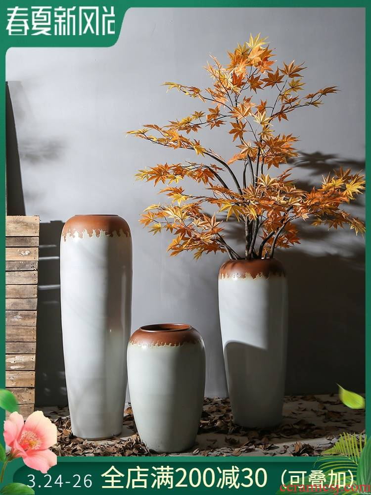 Restoring ancient ways is a sitting room be born between coarse pottery store example company decorative flower flower implement jingdezhen ceramic decoration