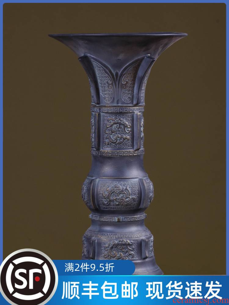 Jingdezhen ceramic bottle is empty wine bottle three catties creative furnishing articles household jar sealing mercifully wine up cylinder