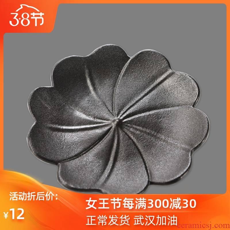 Ya xin company hall bursts of black lotus cup mat heat insulation cup mat creativity coasters ceramic tea accessories