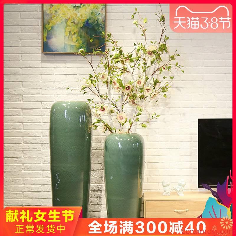 Jingdezhen ceramic sitting room of large vase club villa decoration decoration between example hotel office furnishing articles