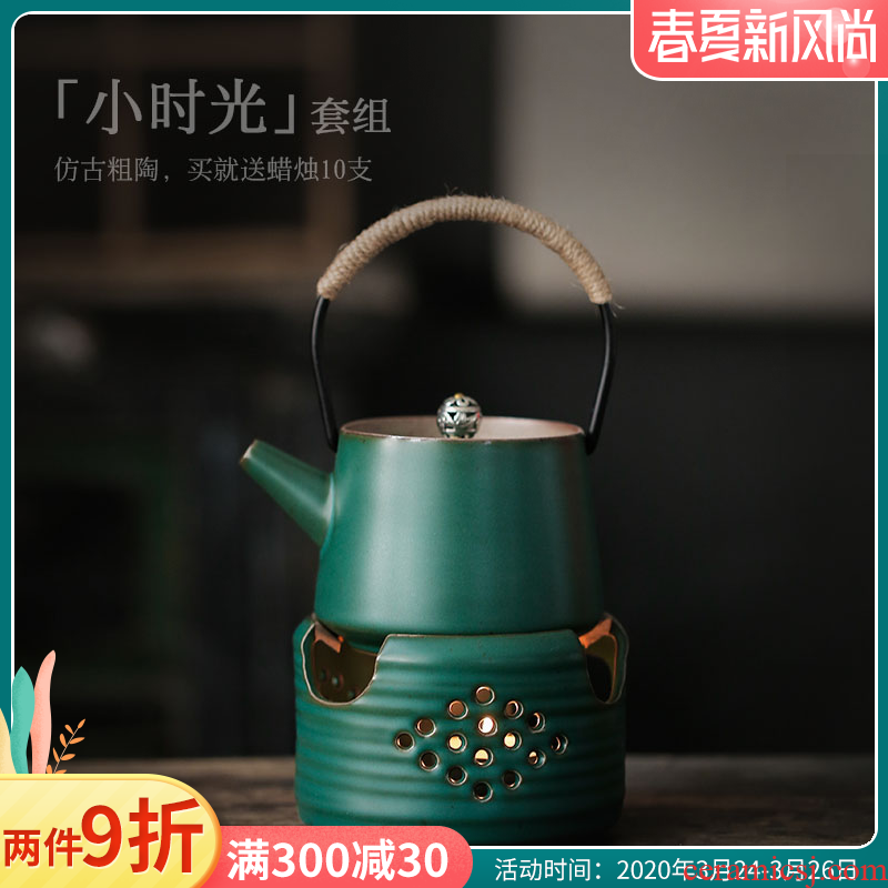 ShangYan Japanese ceramic teapot small based furnace heat preservation temperature restoring ancient ways the teapot girder pot of tea