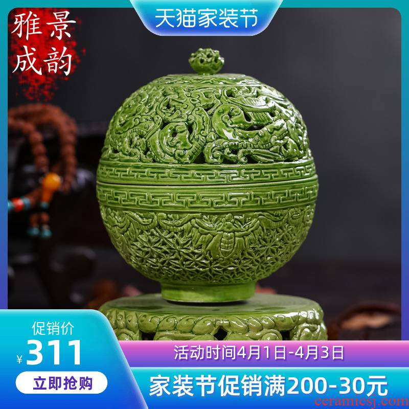 Buddha sitting room place jingdezhen ceramics with household decoration antique reproduction ssangyong incense incense
