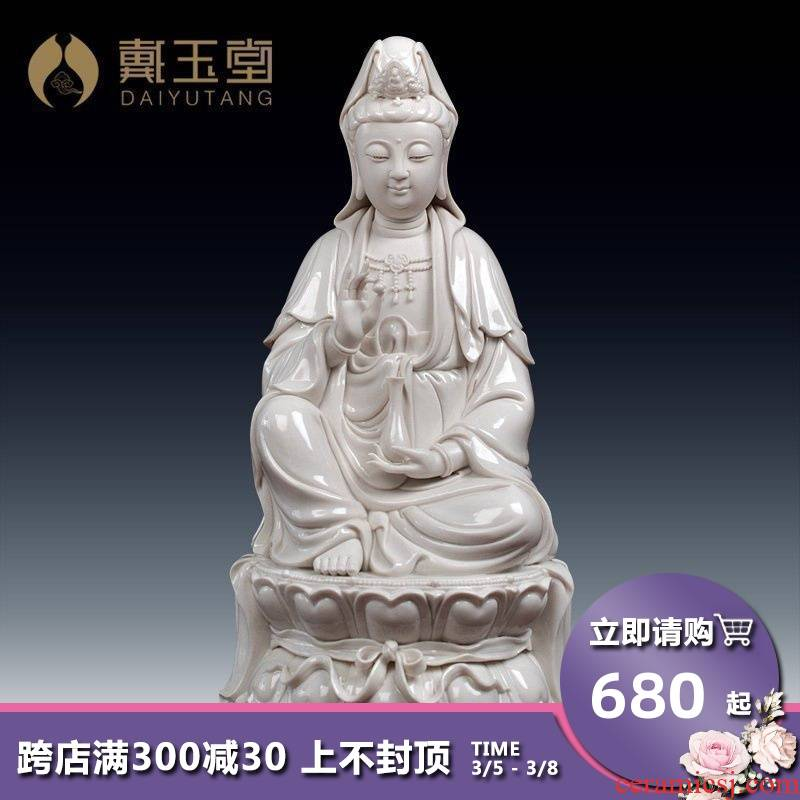 Yutang dai ceramic avalokitesvara furnishing articles sitting room buddhist temple consecrate/GuLian guanyin D03-226