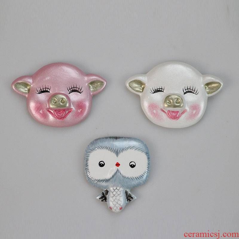 The Big well lovely refrigerator post creative decoration message post - it magnetic all strong all for ceramic pig