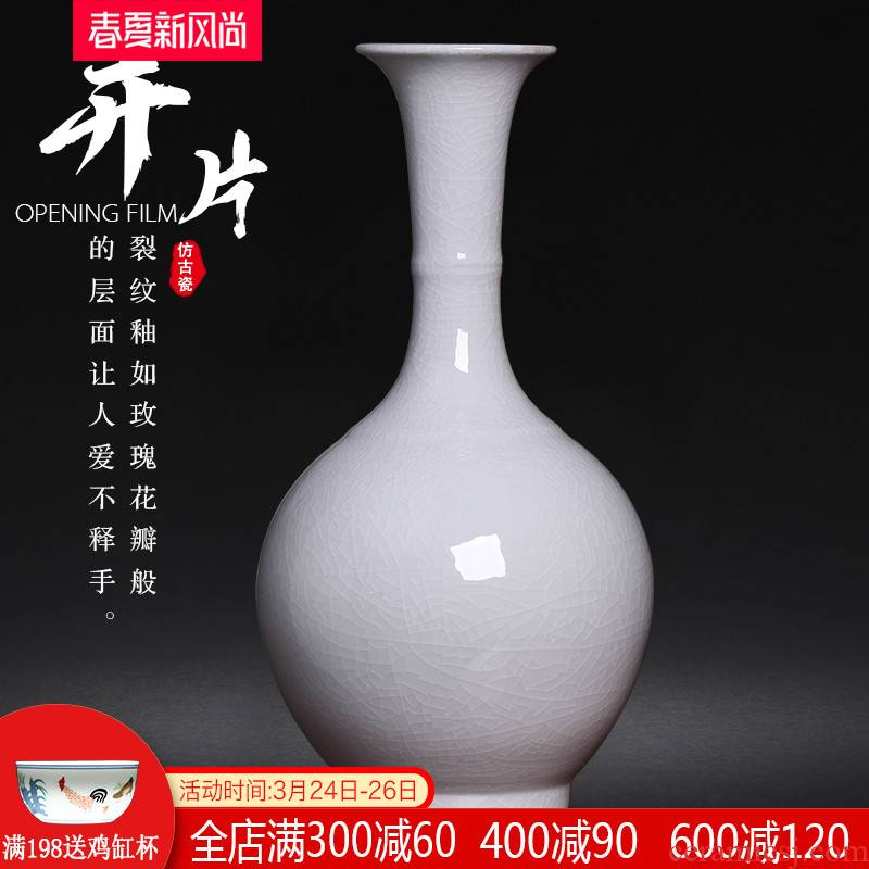 Jingdezhen ceramics archaize color glaze new Chinese style living room home wine ark, adornment porcelain vase furnishing articles