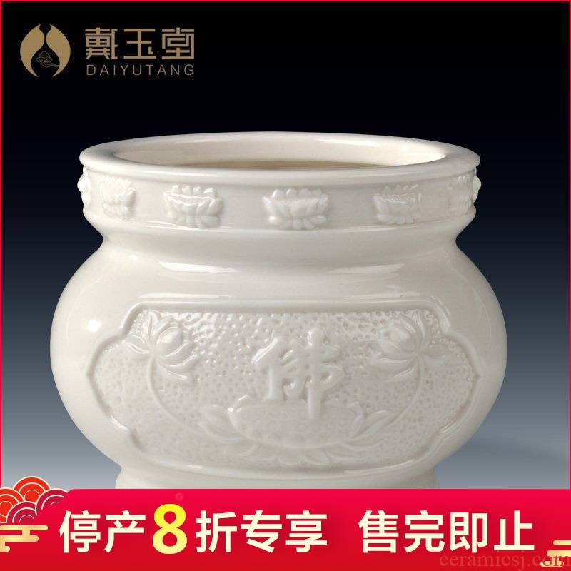 Ceramic production is pulled from the shelves 】 【 aroma stove'm burning incense Buddha word lotus furnace