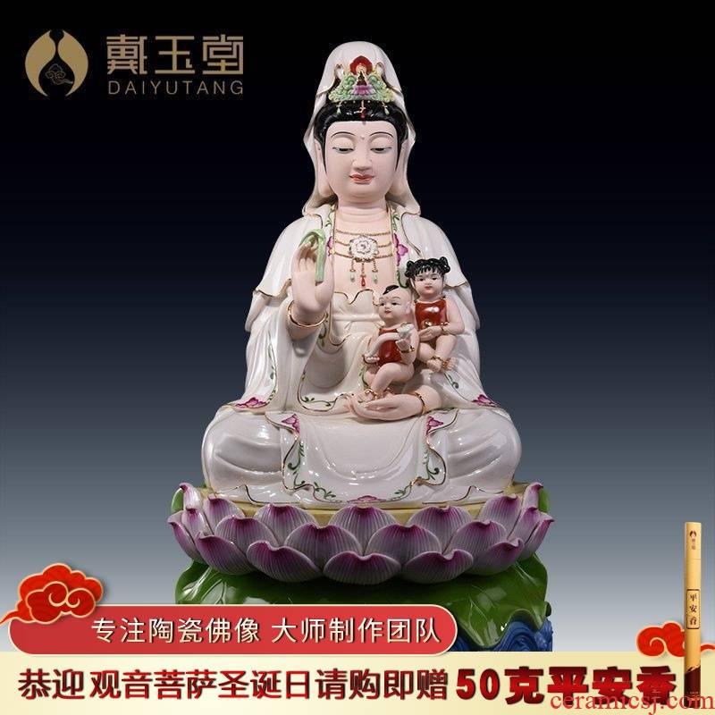 Yutang dai dehua white porcelain avalokitesvara like 19 inch SongZi goddess of mercy for the Buddha to furnishing articles at home