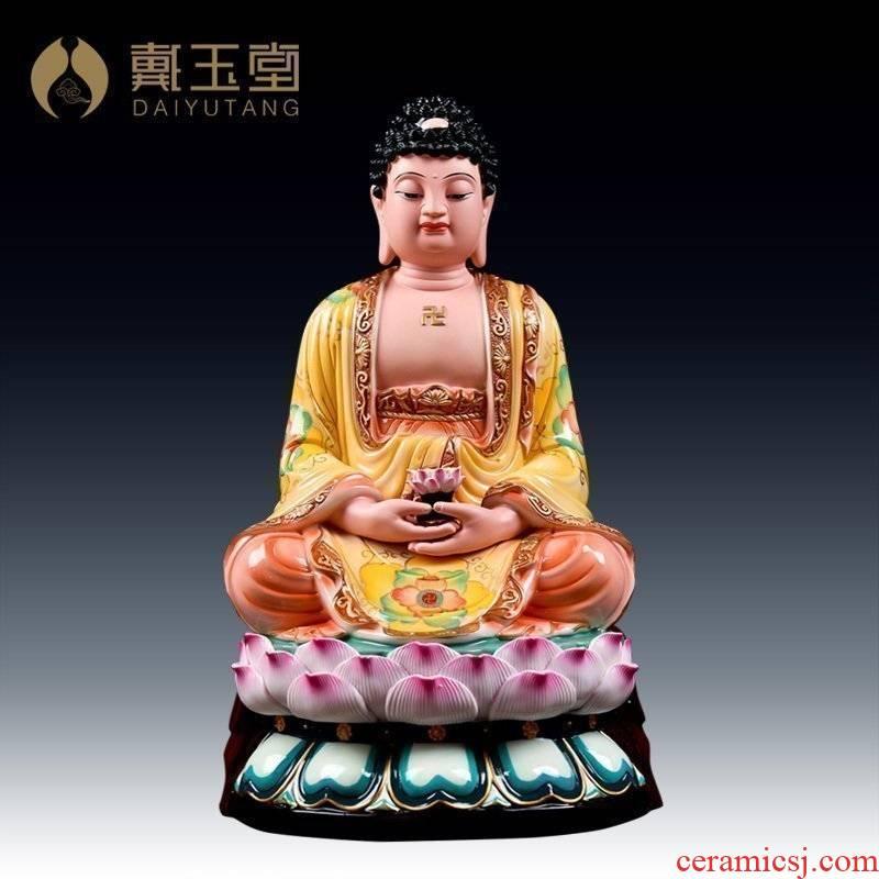 Yutang dai ceramic amida Buddha sakyamuni Buddha worship that occupy the home furnishing articles/dunhuang color of the big Buddha