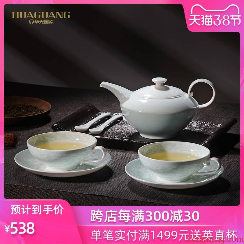 China celadon bing xin okho uh guano ceramic tea set kung fu tea set, ceramic coffee set