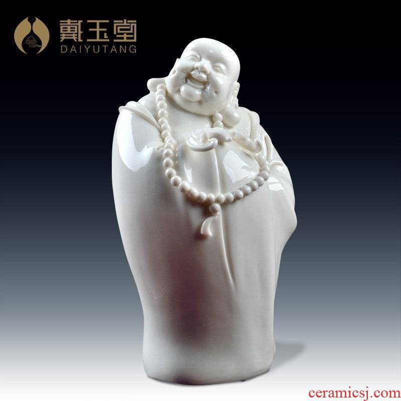 Big Zheng Guoming yutang dai dehua white porcelain its art home furnishing articles/set of four maitreya D41-41