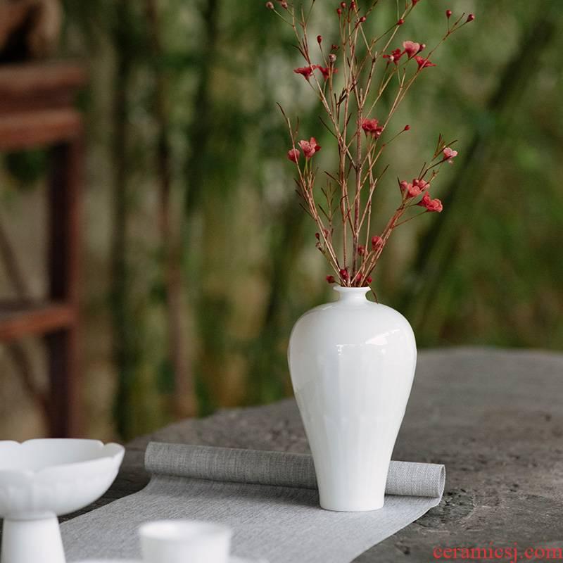 Good thing JingLan flower implement ceramic bottle name plum kung fu tea set vase furnishing articles flower arranging Chinese contracted sitting room tea bottle