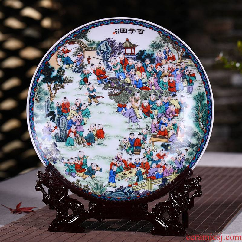 Jingdezhen ceramics with modern decoration plate faceplate hang dish figure Chinese style household decoration crafts are the ancient philosophers