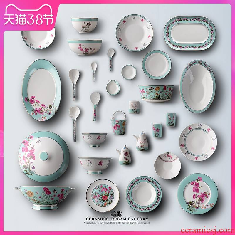 Dream dao yuen court dishes suit Chinese dishes household jobs soup bowl rainbow such as bowl dish dish fish ipads porcelain tableware suit to use