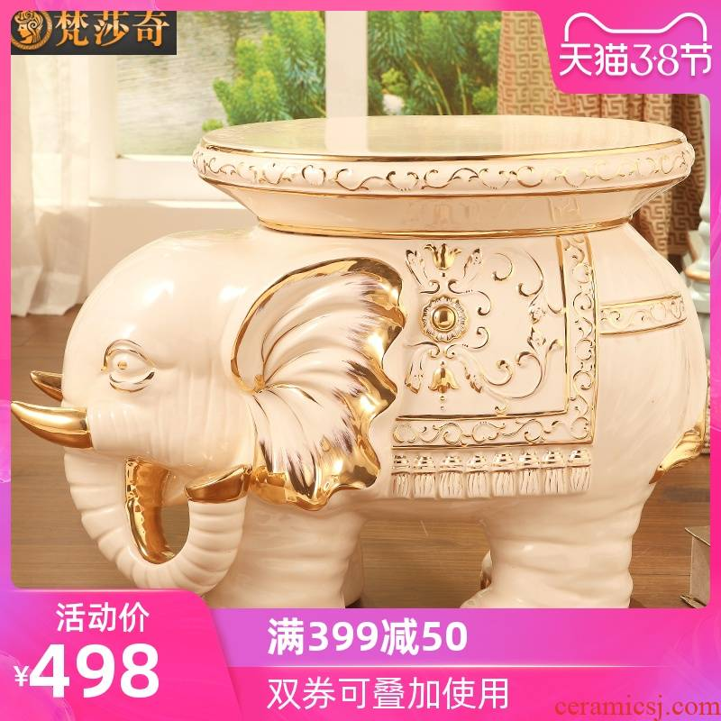 Vatican Sally 's ceramic elephant in shoes who luxurious sitting room porch European - style decorative furnishing articles housewarming gift