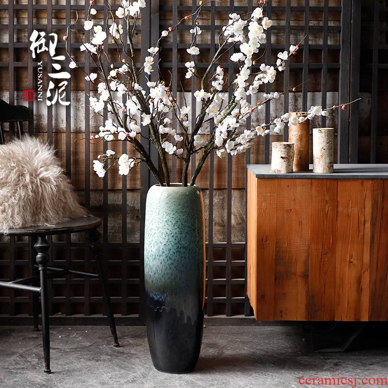 Jingdezhen ceramic vase of large sitting room place European I and contracted flower arranging porch ark, lucky bamboo hydroponics