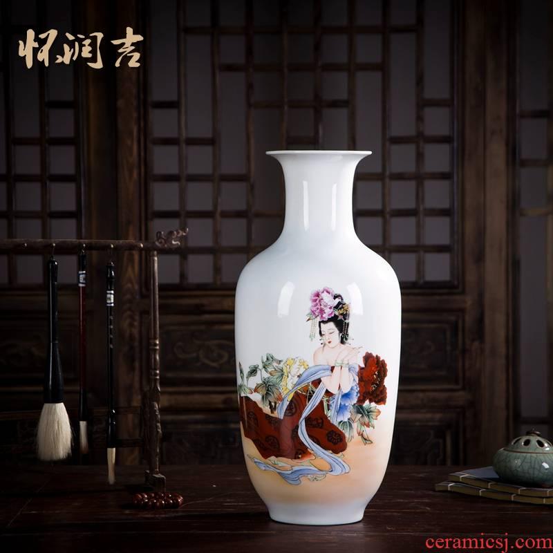 Huai embellish, jingdezhen ceramic figure painting hand - made vase peony fairy new vase fashionable classical furnishing articles
