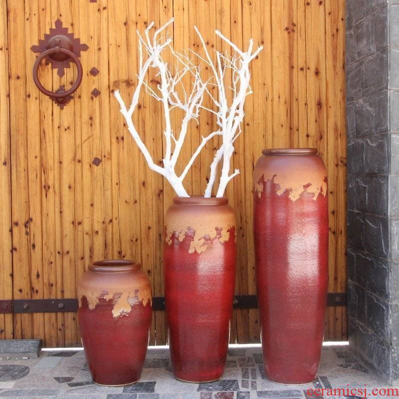 Modern Chinese style example room pottery vases, indoor and is suing water earthenware jars of large ceramic vase vase