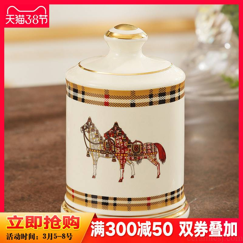 European toothpick box of creative toothpick ceramic pot sitting room tea table to receive table toothpicks extinguishers decorations furnishing articles