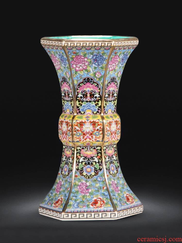 Jingdezhen ceramic vase furnishing articles European porcelain enamel porcelain modern home wine sitting room adornment