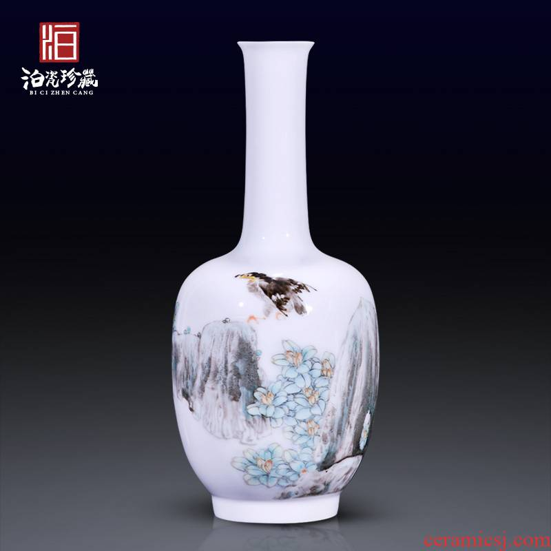 High - quality goods of jingdezhen ceramics Hu Guangzhen hand - made heavy powder enamel new Chinese style household decorative vase furnishing articles