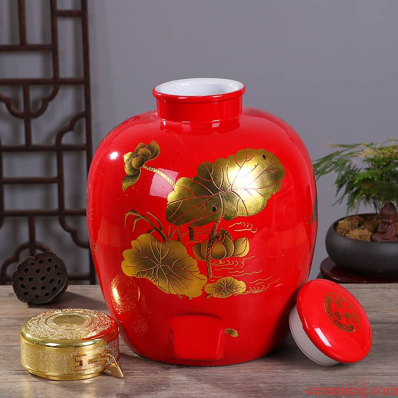 The Jar ceramic 10 jins 20 jins 30 jins 50 kg to household seal terms bottle wine restoring ancient ways with leading hip flask