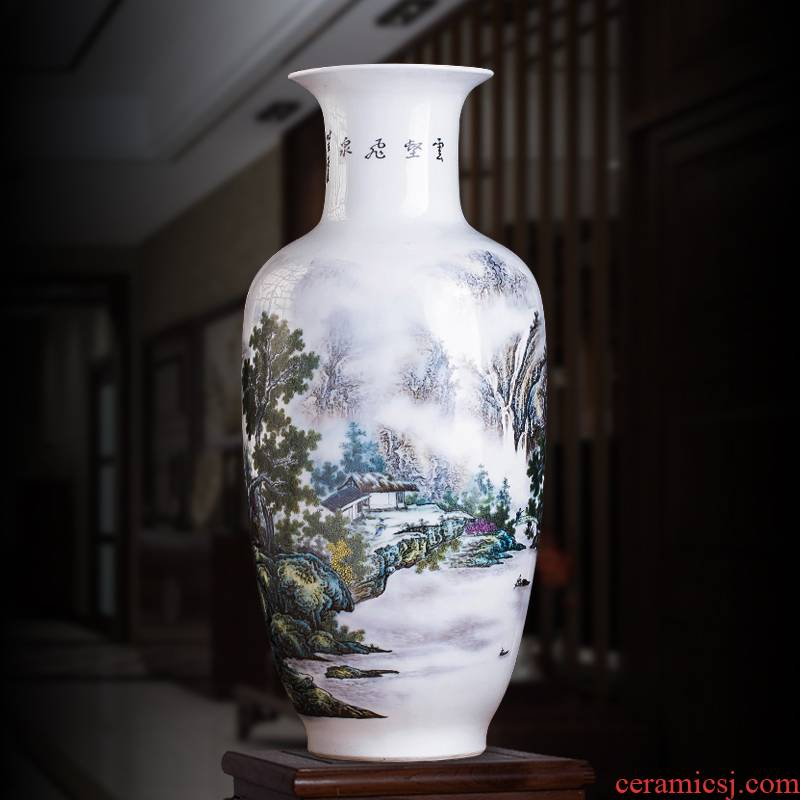 Chinese landscape painting large vases, flower arrangement of jingdezhen ceramics home sitting room porch study adornment furnishing articles
