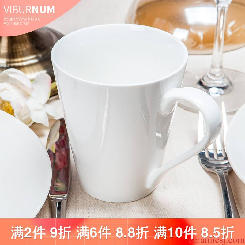 Yao hua pure European - style gulp large - capacity glass professional ceramic cup coffee cup keller picking cups