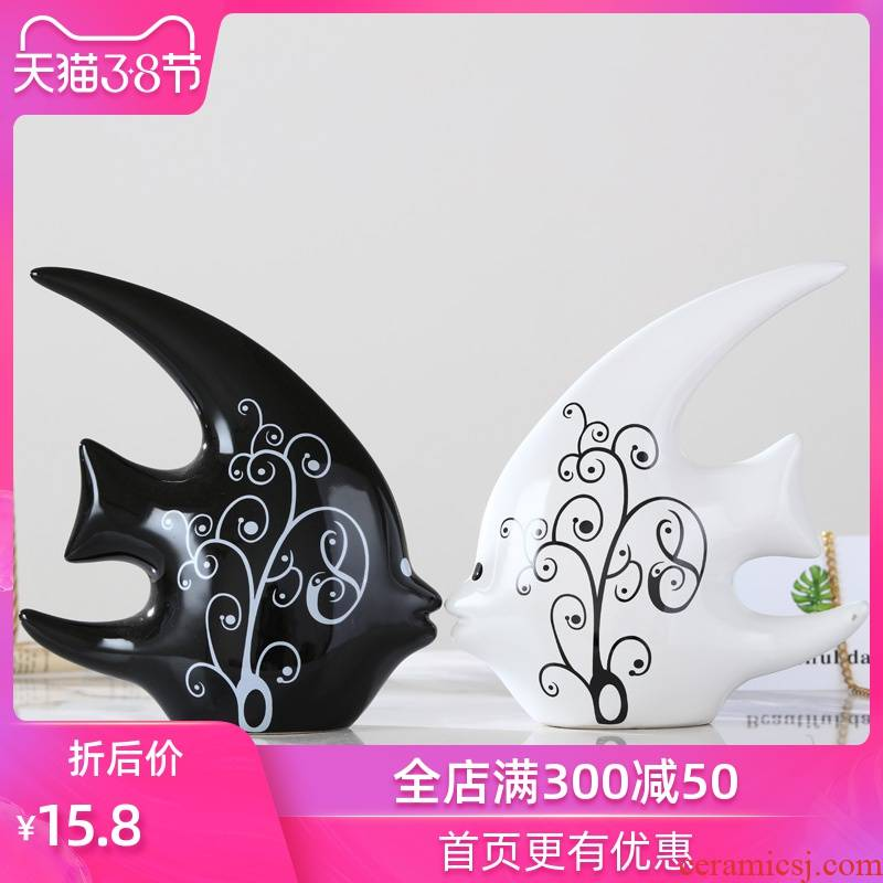 Creative I and contracted style home decoration of the room is small adorn article, small ornament desktop furnishing articles ceramic arts and crafts